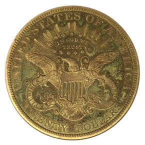 1890 $20 PF reverse