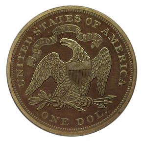 1866 J-541 S$1 PF reverse