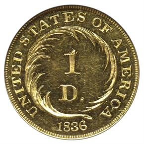 1836 J-67 G$1 PF reverse