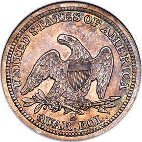 1858 S 25C MS reverse