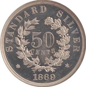 1869 J-753 50C PF reverse
