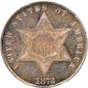 1872 3CS MS obverse