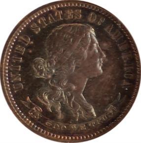 1870 J-849 10C PF obverse