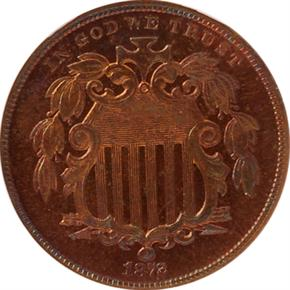 1872 J-1189 5C PF obverse
