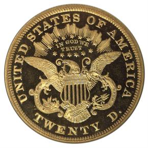 1871 $20 PF reverse