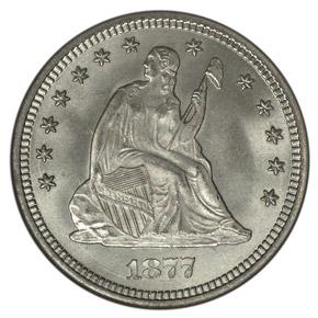 1877 25C MS obverse