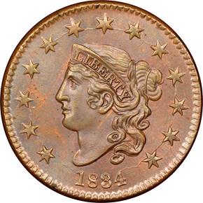 1834 1C MS obverse