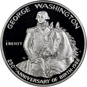 1982 S GEORGE WASHINGTON 50C PF obverse