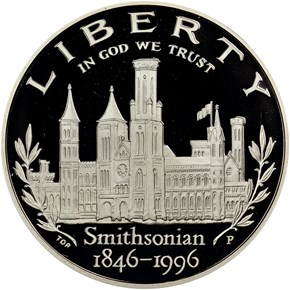 1996 P SMITHSONIAN INSTITUTION obverse