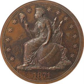 1871 J-1141 S$1 PF obverse