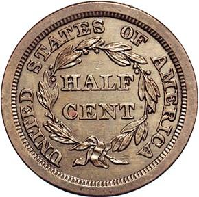 1840 ORIGINAL 1/2C PF reverse