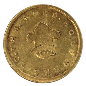 1849 MORMON $20 MS reverse
