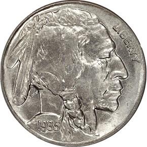 1935 D 5C MS obverse