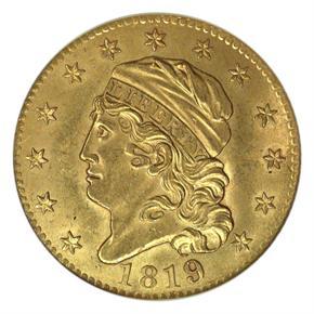 1819 $5 MS obverse