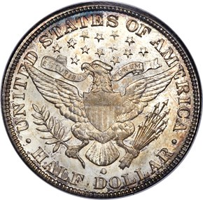 1897 O 50C MS reverse