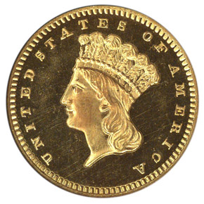1875 G$1 PF obverse