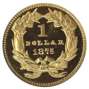 1875 G$1 PF reverse