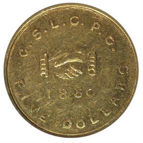1850 MORMON $5 MS obverse