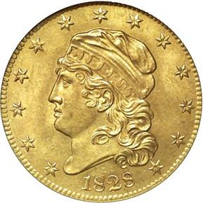 1828/7 $5 MS obverse