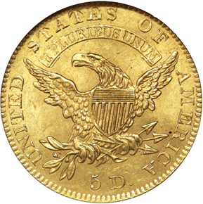 1828/7 $5 MS reverse