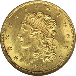 1837 $5 MS obverse