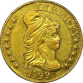 1799 $5 MS obverse