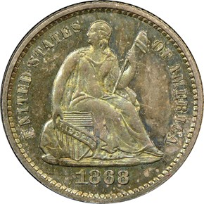 1868 H10C PF obverse