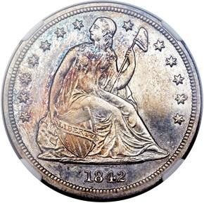 1842 $1 PF obverse
