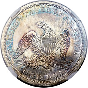 1842 $1 PF reverse