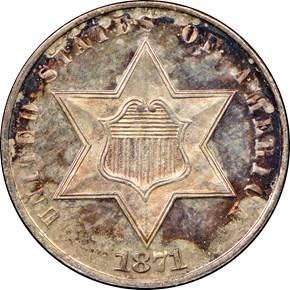 1871 3CS MS obverse