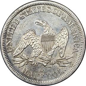 1843 O 50C MS reverse