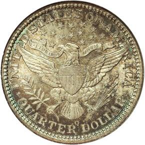 1907 O 25C MS reverse