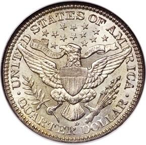 1913 D 25C MS reverse