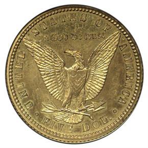 1878 J-1578 GILT $5 PF reverse