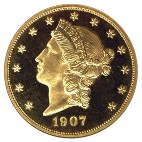 1907 LIBERTY $20 PF obverse