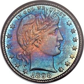 1898 O 25C MS obverse