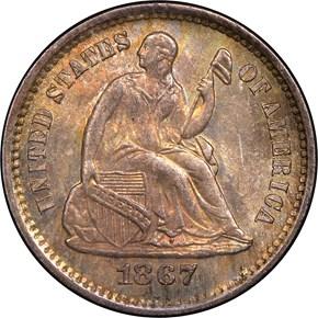1867 S H10C MS obverse