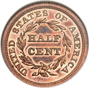 1856 1/2C PF reverse