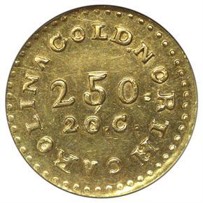 (1831-34) C.BECHTLER 20C, NO 75G, BEADED $2.5 MS obverse