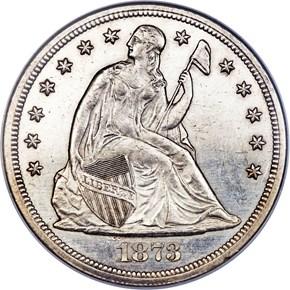 1873 CC $1 MS obverse
