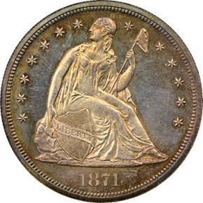 1871 S$1 PF obverse