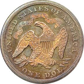 1871 S$1 PF reverse