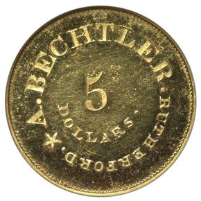 (NO DATE) A.BECHTLER RESTRIKE $5 PF reverse