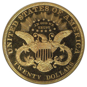 1888 $20 PF reverse
