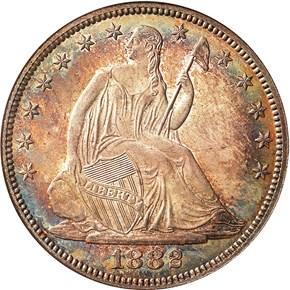 1882 50C MS obverse