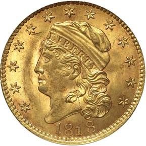 """1818 """"STATESOF"""" BD-2 $5 MS obverse"""