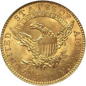 """1818 """"STATESOF"""" BD-2 $5 MS reverse"""