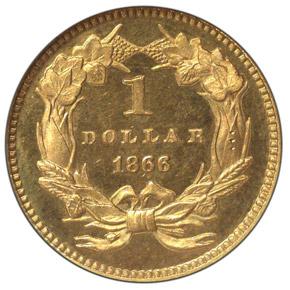 1866 G$1 PF reverse
