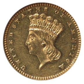 1875 G$1 MS obverse