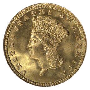 1881 G$1 MS obverse